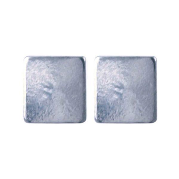925 zilver l Square 4.0 x 4.0mm